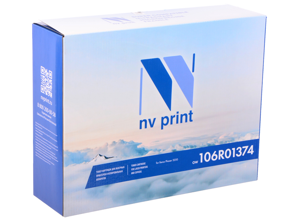 Картридж NV-Print совместимый с Xerox для Phaser 3250. Чёрный. 5000 страниц. (106R01374) flower candles print waterproof shower curtain