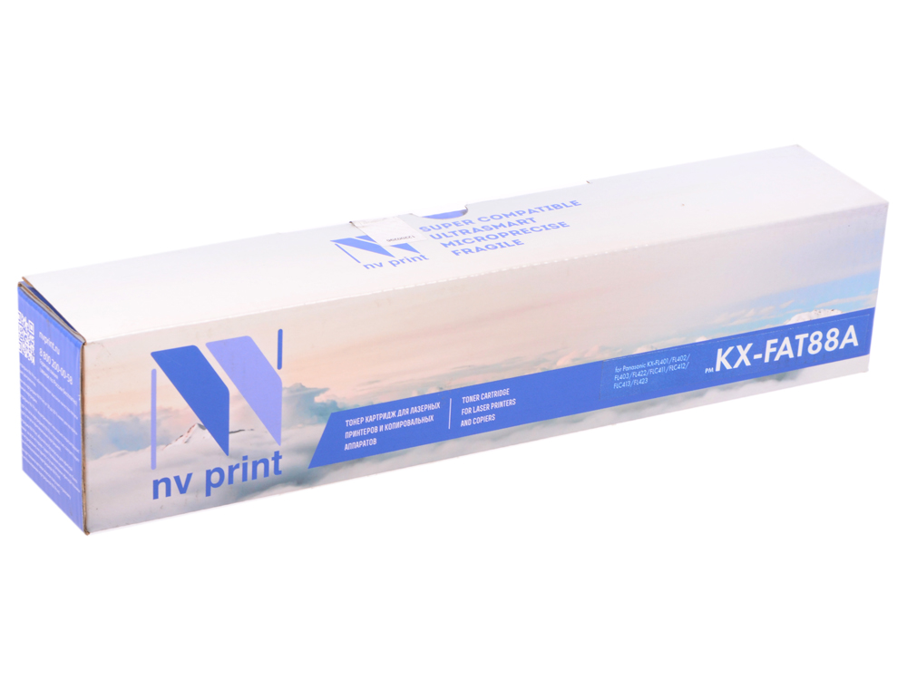 цена на Картридж NV-Print совместимый Panasonic KX-FAT88A для KX-FL403RU/413RU/C413RU. Чёрный. 2000 страниц.