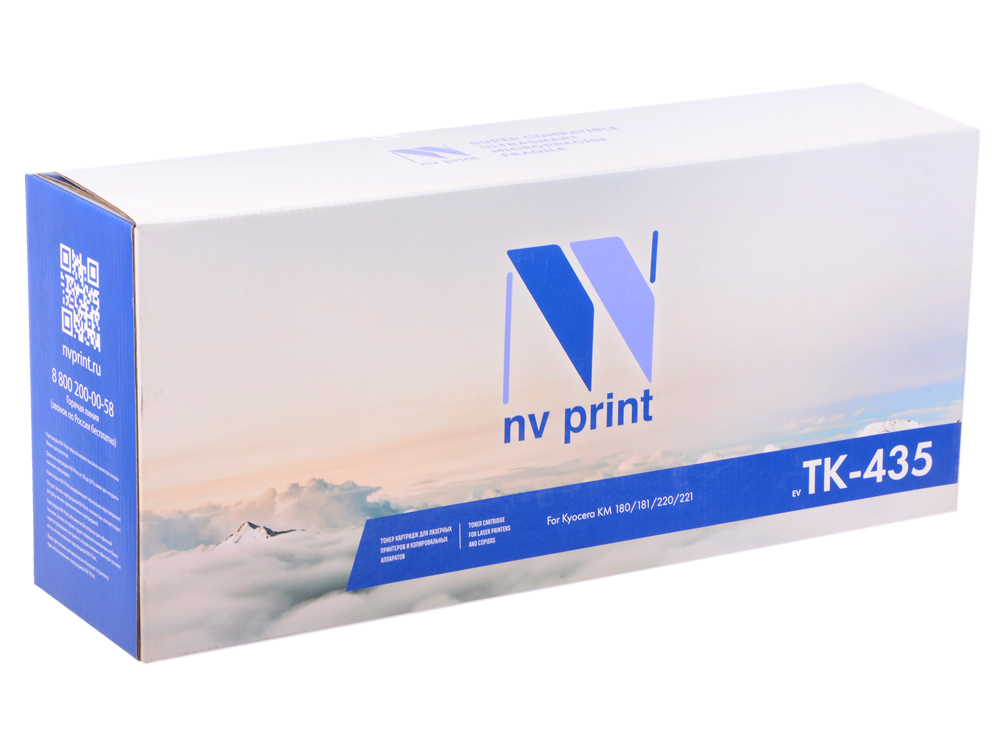Картридж NV-Print совместимый Kyocera TK-435 для Kyocera Mita KM TASKalfa 180/181/220/221 (туба 870г.) Чёрный. 15 000 страниц.