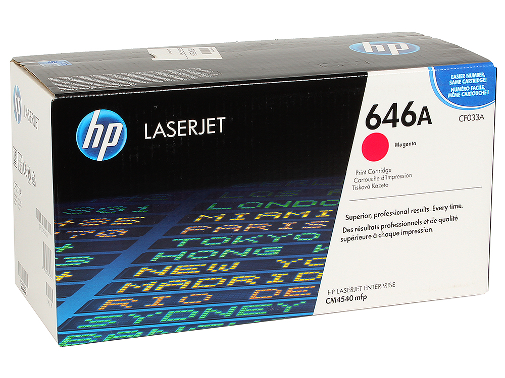 Картридж HP CF033A для LaserJet CM4540 MFP, Пурпурный. 12 500 страниц. new original adf pickup roller for hp m4555 4555 mfp m4555mfp hp4555 cm4540 4540 maintenance kit ce248 67901