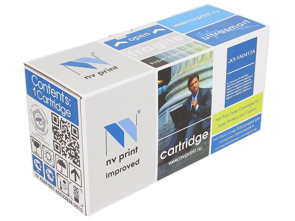 Тонер-картридж NV-Print совместимый Panasonic KX-FAD412А для KX-MB2000/2020/2030. Чёрный. 6000 страниц. картридж nv print kx fat88a для panasonic kx fl403ru 413ru c413ru черный 2000стр