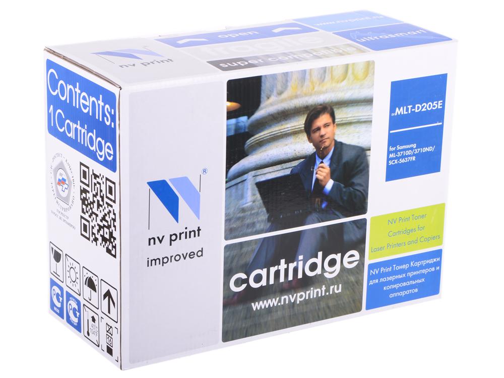 Картридж NV Print совместимый Samsung MLT-D205E для  ML-3710/SCX-5637. Чёрный. 10000 страниц. картридж samsung ml 3710 scx 5637 mlt d205e see