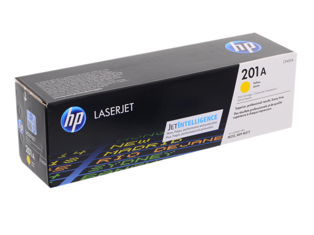 Картридж HP CF402A для LaserJet Pro M252n/M252dw, Жёлтый. 1400 страниц. (HP 201A) perseus toner cartridge for hp cf400a cf401a cf402a cf403a 201a compatible hp color laserjet pro m252dw m252n mfp m277n m277dw