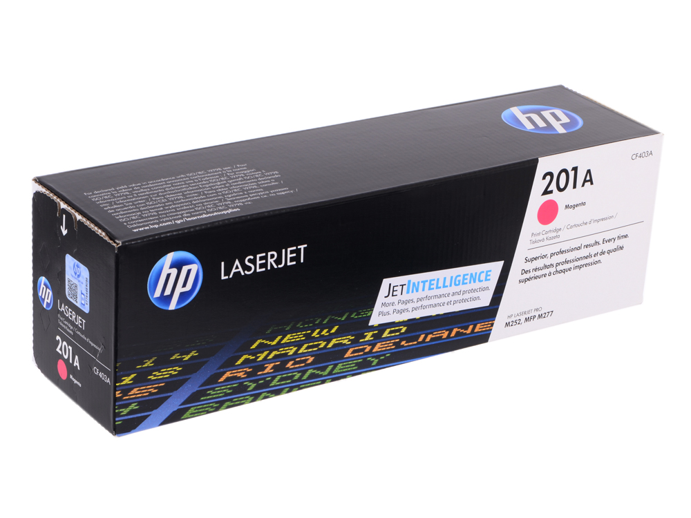 Картридж HP CF403A для LaserJet Pro M252n/M252dw, Пурпурный. 1400 страниц. (HP 201A) perseus toner cartridge for hp cf400a cf401a cf402a cf403a 201a compatible hp color laserjet pro m252dw m252n mfp m277n m277dw