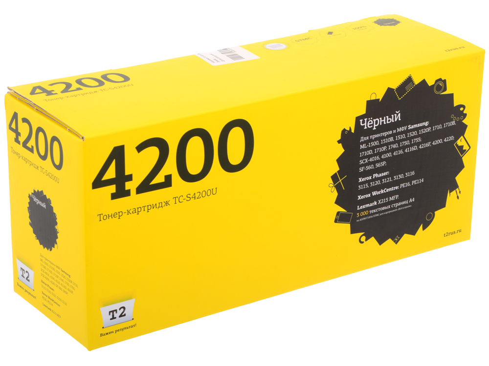 Картридж T2 TC-S4200 U (с чипом) картридж t2 tc b2275 черный