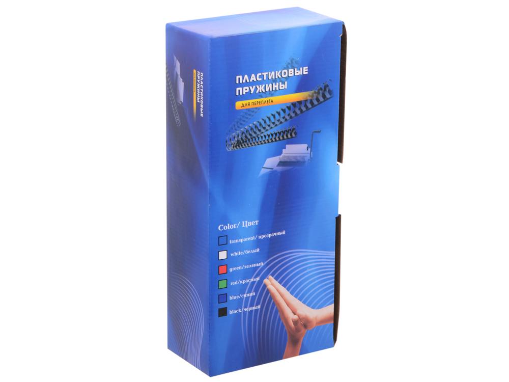 Пластиковые пружины 12 мм (70-90 листов) черные 100 шт. Office Kit (BP2030) переплетчик gbc combbind 100 a4 перфорирует 9 листов сшивает 160 листов пластиковые пружины 6 19мм 4