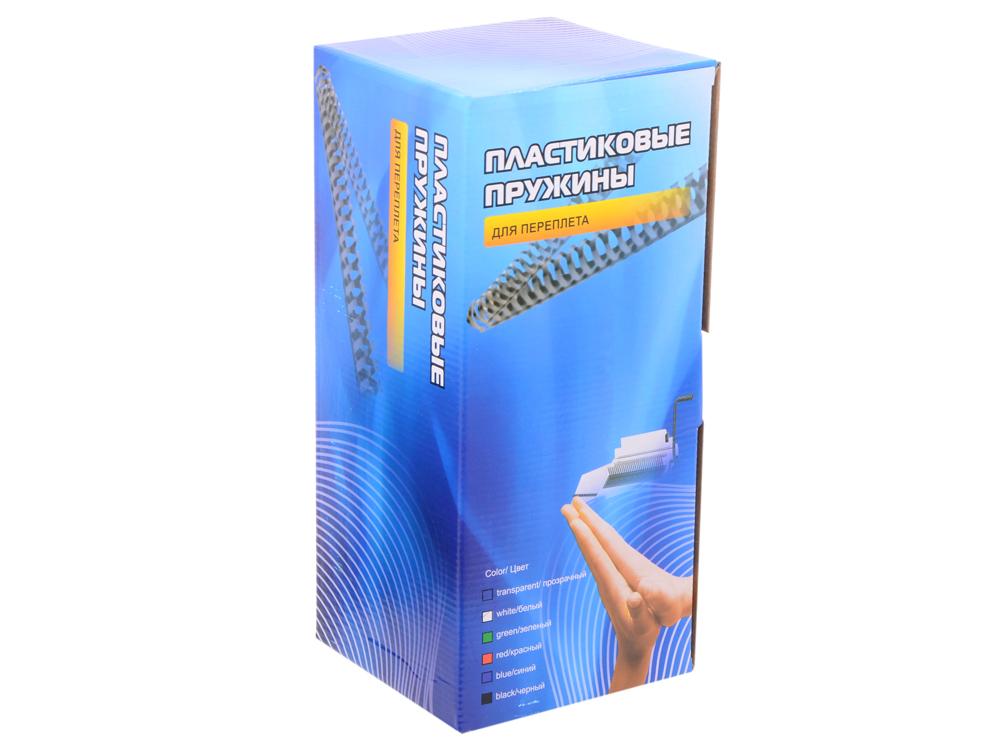 Пластиковые пружины 16 мм (110-130 листов) белые 100 шт. Office Kit (BP2051) защитные пластиковые пакеты plastic liners 100 шт