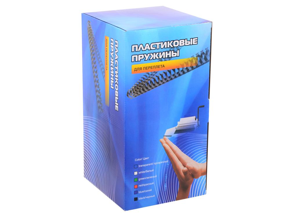 Пластиковые пружины 28 мм (220-250 листов) черные 50 шт. Office Kit (20204739) переплетчик gbc combbind 100 a4 перфорирует 9 листов сшивает 160 листов пластиковые пружины 6 19мм 4