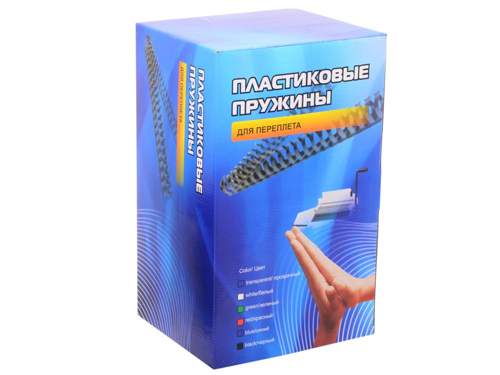 Пластиковые пружины 45 мм (340-410 листов) черные 50 шт. Office Kit (BP2120) переплетчик gbc combbind 100 a4 перфорирует 9 листов сшивает 160 листов пластиковые пружины 6 19мм 4