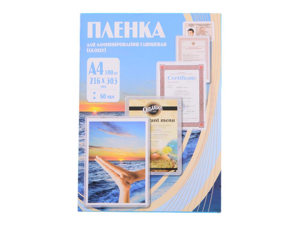 Пленка для ламинирования 216х303 (60 мик) 100 шт Office Kit (PLP100123)