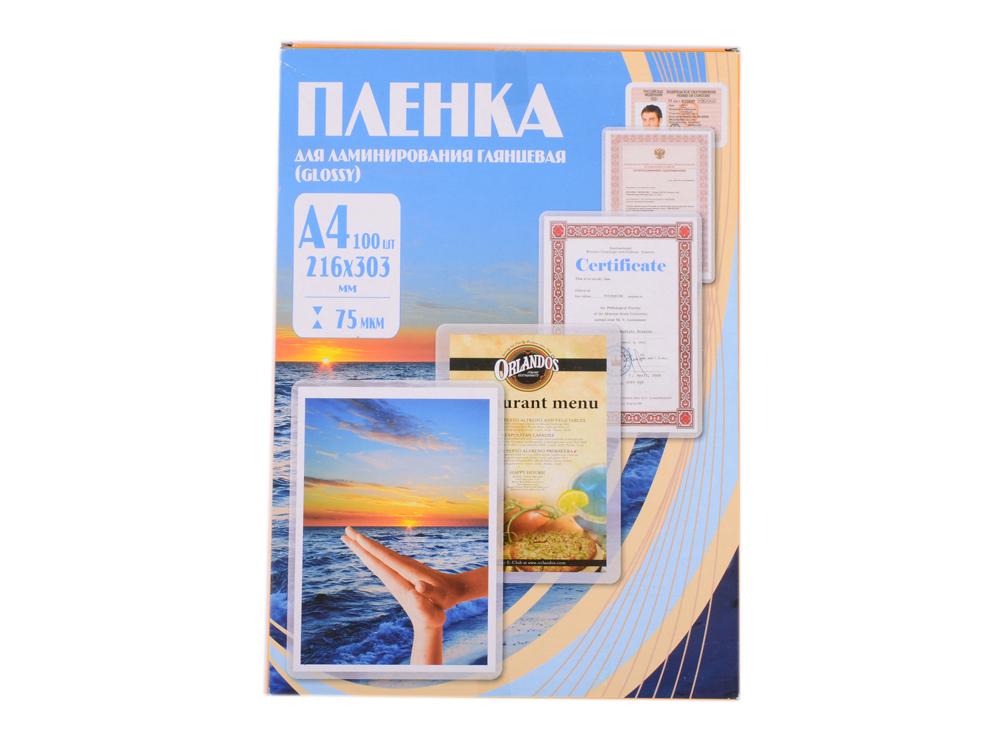 Пленка для ламинирования 216х303 (75 мик) 100 шт Office Kit (PLP10023)