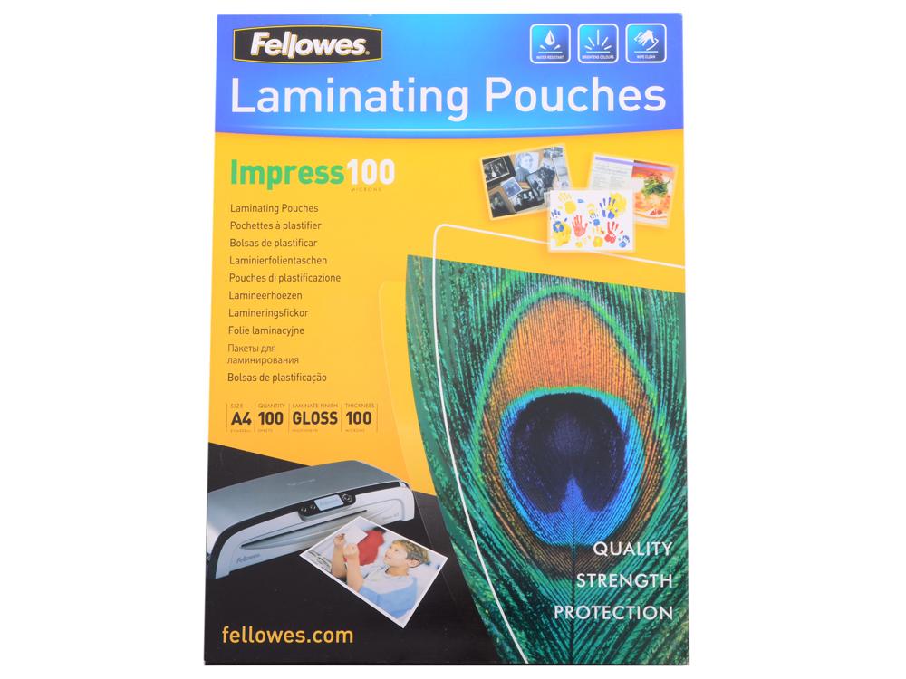 Плёнка для ламинирования Fellowes A4 Fellowes, 100 мкм fellowes powershred 99ci black шредер