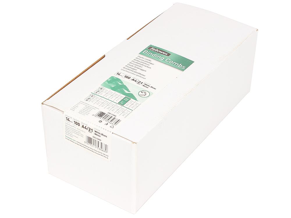 Пружина пластиковая Fellowes, 14 мм, белый fellowes powershred 99ci black шредер