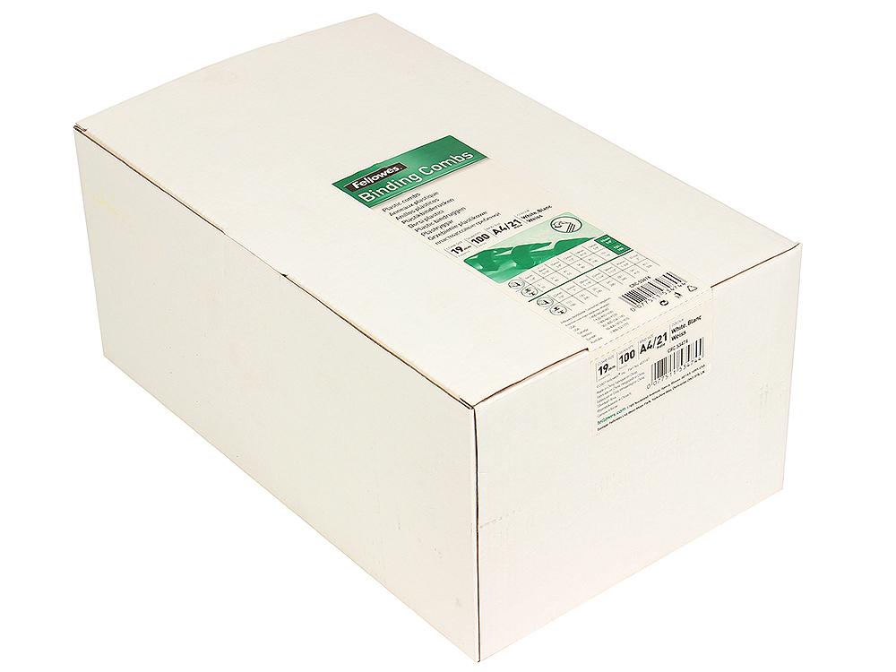 Пружина пластиковая Fellowes, 19 мм, белый