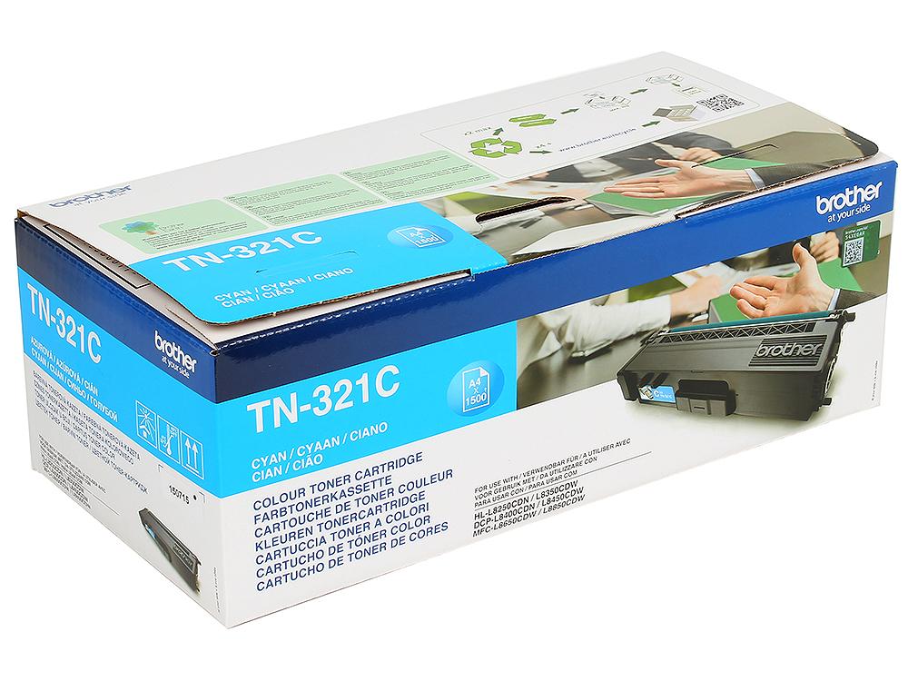 Тонер-картридж Brother TN321C голубой лазерный картридж brother tn 230c голубой для hl3040 dcp9010cn mfc9120cn