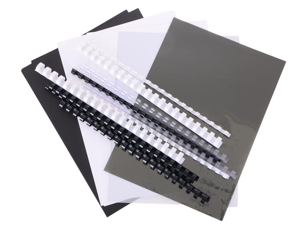 Стартовый набор обложек и пружин для переплета Office Kit (MLA50050) стартовый набор для переплета office kit 20 обложек 10 пружин