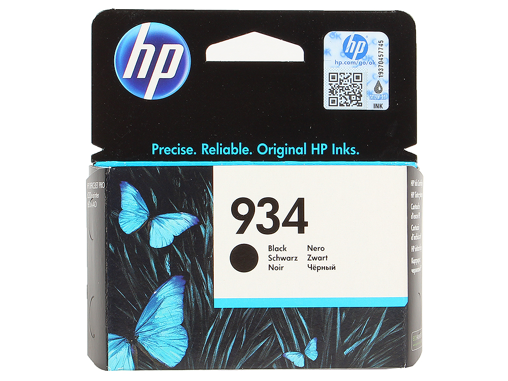 Картридж HP C2P19AE (№934) для МФУ HP Officejet Pro 6830 e-All-in-One(E3E02A), принтер HP Officejet Pro 6230 ePrinter E3E03A). Чёрный. 400 страниц. картридж hp c2p19ae 934 black для officejet pro 6830