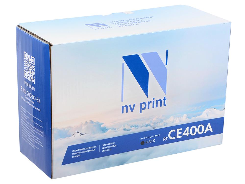 Картридж NVP совместимый HP CE400A для CLJ Color M551 (5000k). Чёрный. hp ce400a 507a black тонер картридж для color laserjet color m551 series