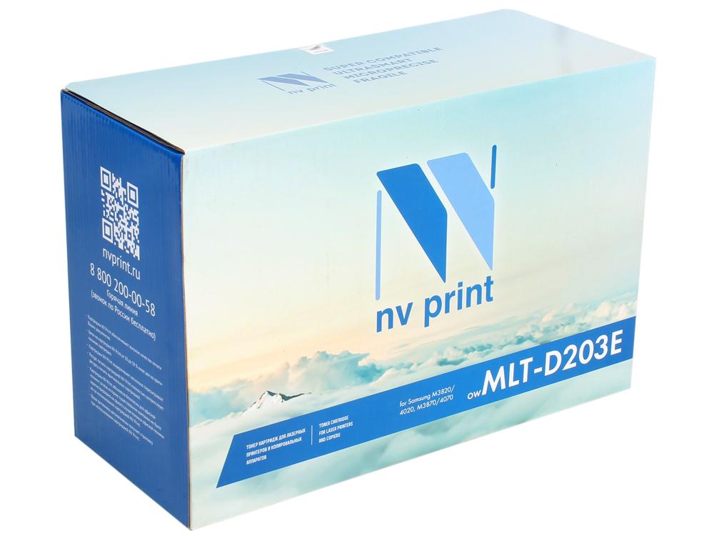 Картридж NV-Print совместимый Samsung MLT-D203E для SL-M3820/3870/4020/4070. Чёрный. 10 000 страниц. flower candles print waterproof shower curtain