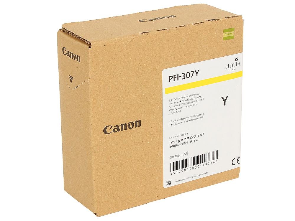 купить Картридж Canon PFI-307 Y Жёлтый по цене 8340 рублей