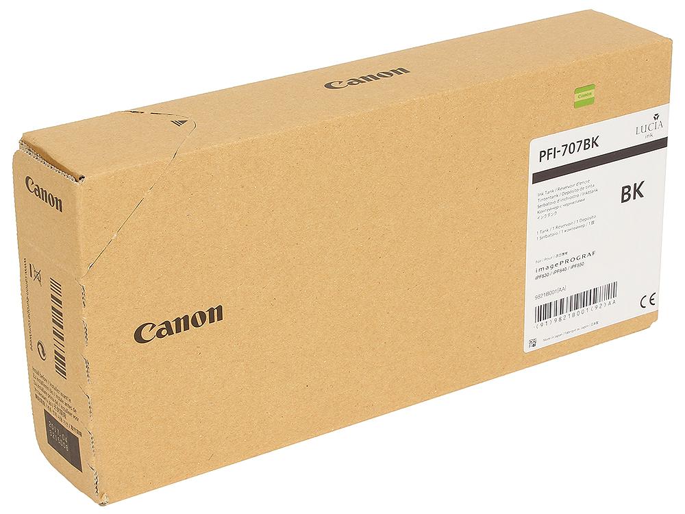Картридж Canon PFI-707 BK Чёрный картридж canon pfi 703c 2964b001