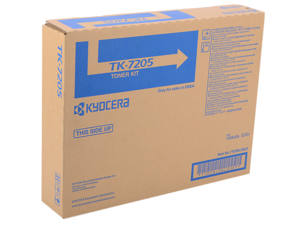 Тонер Kyocera TK-7205 для TASKalfa 3510i, Чёрный. 35 000 страниц.