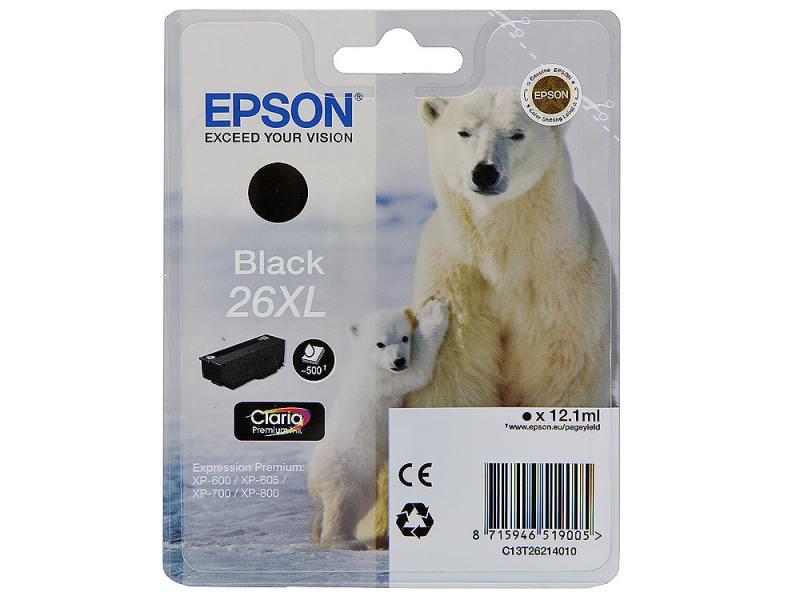 Картридж Epson Original T262140 для Expression Premium XP-600/XP-700/XP-800. Черный, XL. Производитель: Epson, артикул: 0314638