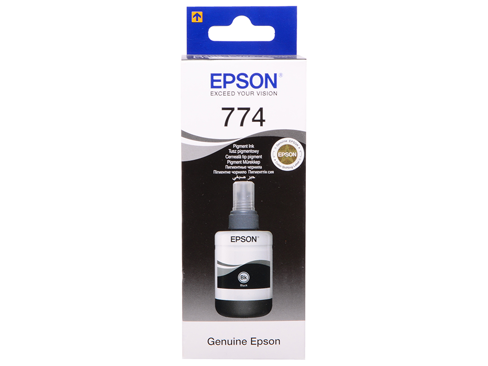 Картридж Epson Original T77414A Контейнер с черными чернилами для M100/M200/M105 zortrax m200 v2 hot end with cartridge heater thermocouple sensor nozzle v2 hotend kit for zortrax m200 extrusion 3d printer