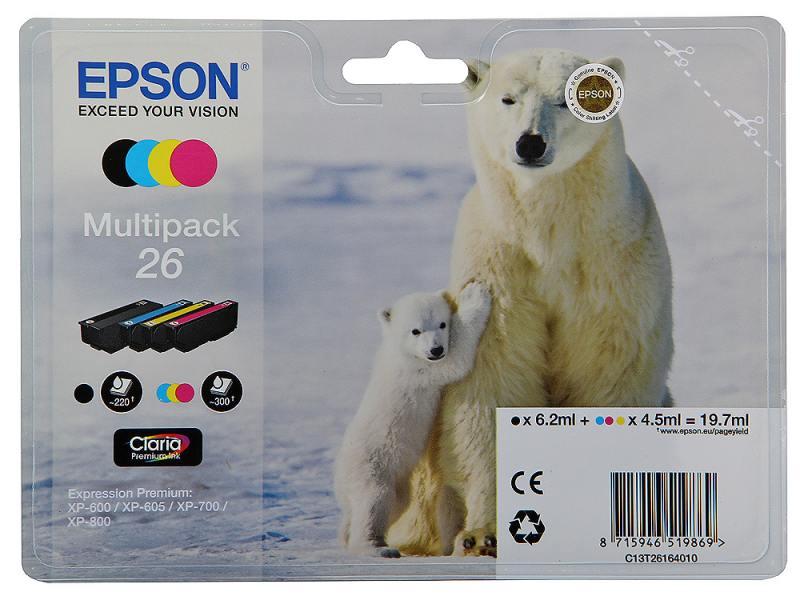 Картридж Epson Original T261640 комплект для XP-600/XP-700/XP-800 original 5inch lcd screen ed050su2 lf for the ebook free shipping 800 600