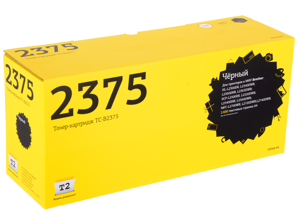 Картридж T2 TC-B2375 (аналог TN-2375) для Brother HL-L2300DR/L2340DWR/DCP-L2500DR/L2520DWR/MFC-L2700WR (2600 стр.) brother dcp l2520dwr dcpl2520dwr1