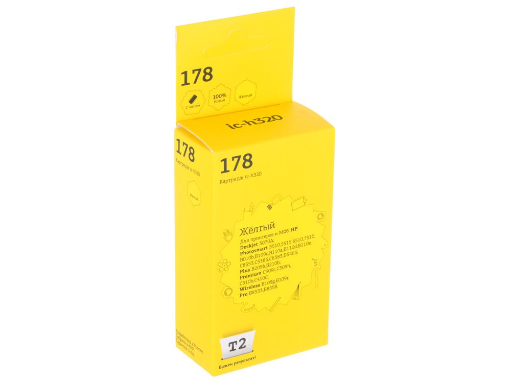 Картридж T2 IC-H320 №178 (аналог CB320HE) для HP Deskjet 3070A/Photosmart 5510/6510/7510/B110/C8583, желтый, с чипом cn642a for hp 178 364 564 564xl 4 colors printhead for hp 5510 5511 5512 5514 5515 b209a b210a c309a c310a 3070a b8550 d7560