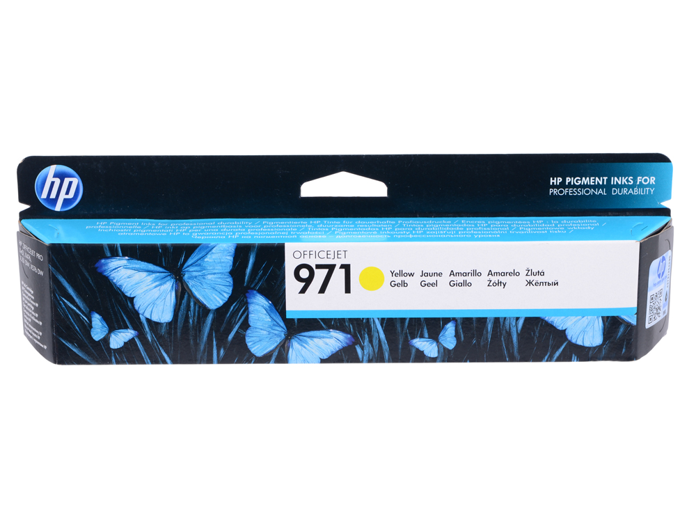 Картридж HP CN624AE для HP Officejet Pro X476dw/X576dw/X451dw/X551dw. Жёлтый. 2500 страниц. (HP 971) hot sale for hp 970 971 refillable ink cartridge for officejet pro x451dn x451dw x476dn x476dw x551dw x576dw with permanent chip