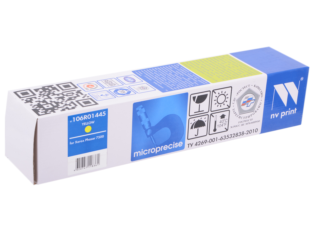 Картридж NV-Print совместимый Xerox 106R01445 для Phaser 7500. Жёлтый. 17 800 страниц. картридж для принтера nv print для xerox 108r00909