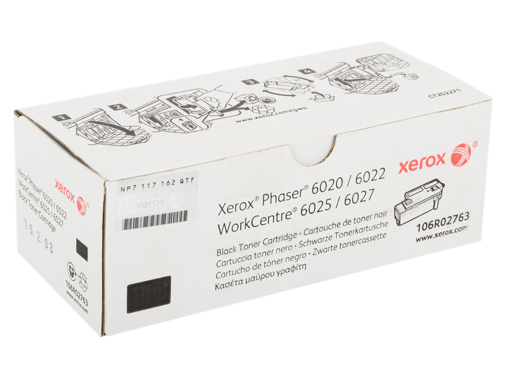 Картридж Xerox 106R02763 Phaser 6020/6022, / WorkCentre 6025/6027 Black Print Cartridge картридж sakura sa106r02760 cyan для xerox workcentre 6027 6025 phaser 6022 6020