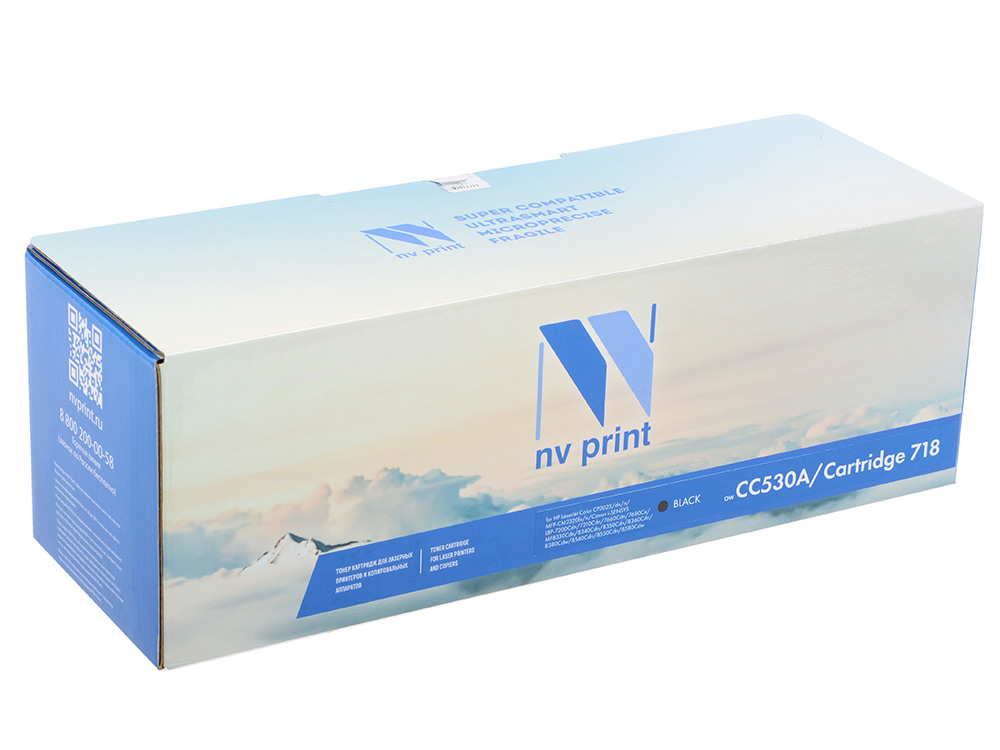 Картридж NV-Print совместимый HP CC530A/Canon 718 BLACK для LJ Color CP2025/CM2320/Canon i-SENSYS LBP-7200C/MF8330C/8350C (3500k) nv print cf213a ce323a cb543a magenta тонер картридж для hp laserjet color pro m251n cp1525n cm1415fn cp1215 cm1312 cp1215 canon i sensys lbp5050 mf8030cn mf8080cw lbp 7100cn 7110cw