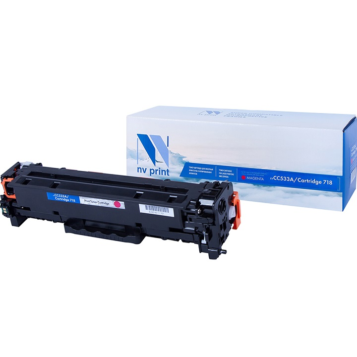 Картридж NV-Print совместимый HP CC533A/Canon 718 MAGENTA для LJ Color CP2025/CM2320/Canon i-SENSYS LBP-7200C/MF8330C/8350C (2800k) картридж nv print cf213a canon 731 magenta для hp lj pro m251 276 canon lbp7100cn 7110cw