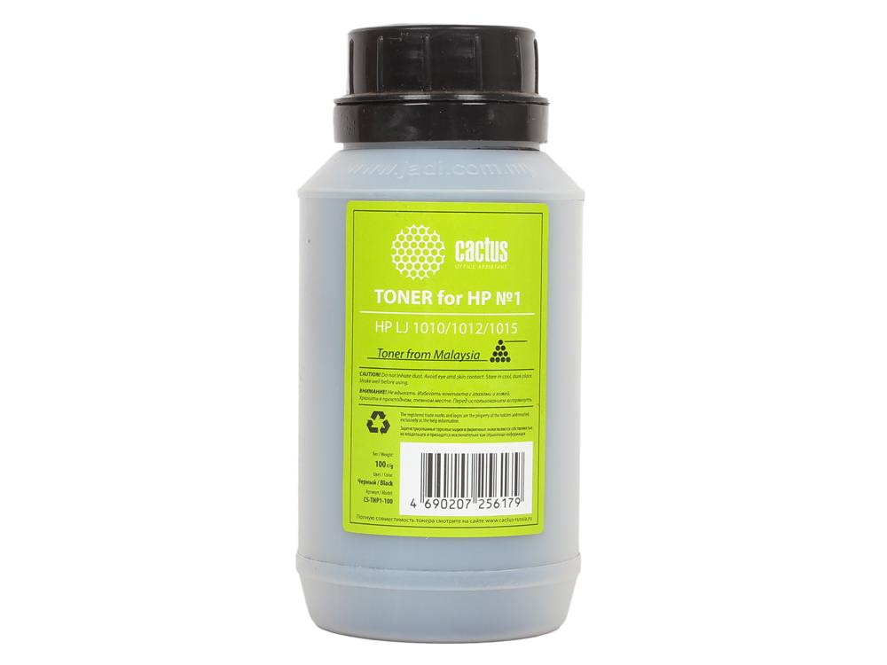 Тонер для принтера Cactus CS-THP1-100 черный (флакон 100гр) HP LJ 1010/1012/1015