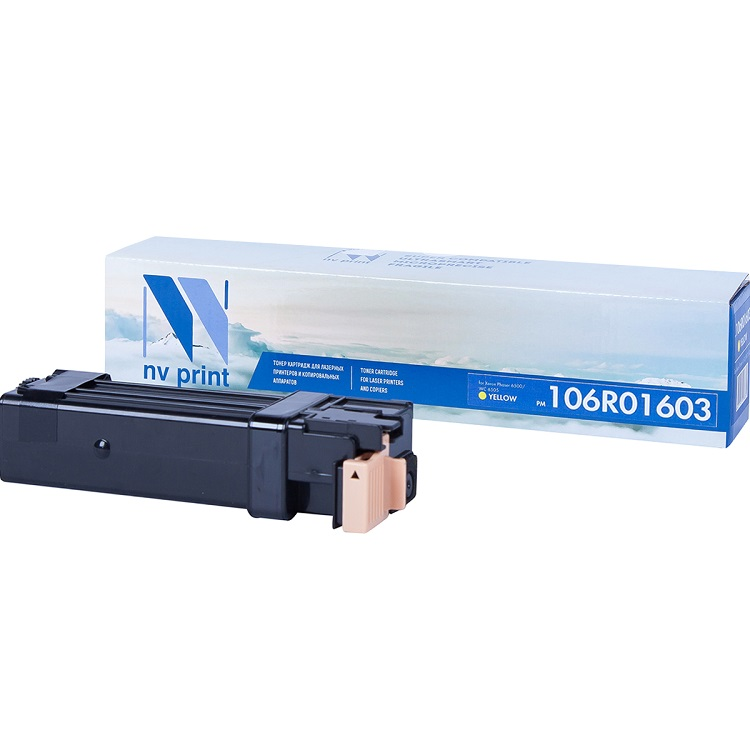 Картридж NV-Print совместимый Xerox для Phaser WorkCentre 6505 106R01603 желтый 2 500 страниц тонер картридж nv print совместимый xerox phaser workcentre 106r01602 magenta 2 500 к