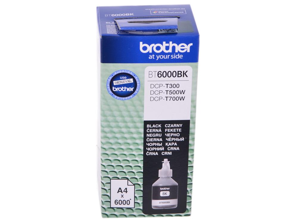 Бутылка с чернилами Brother BT6000BK, чёрный для DCP-T300/DCP-T500W/DCP-T700W (6000стр) 4 pcs lc1240 lc1280 lc75 lc73 lc77 lc79 lc12 lc17 lc450 lc400 compatible inkjet ink cartridge for brother dcp j940n w