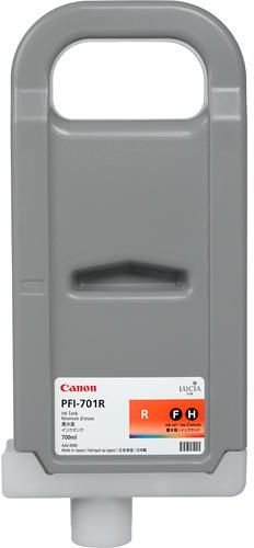 Картридж Canon PFI-701 R для iPF8000/8100/9000/9100. Красный. 700 мл. картридж canon 701 magenta для lbp5200