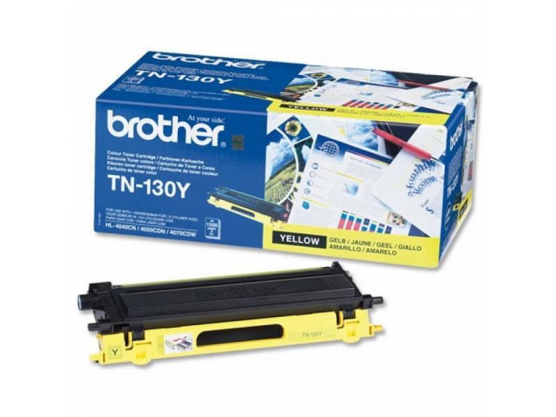 Тонер-картридж Brother TN130Y желтый, для HL-4040CN/HL-4050CDN/DCP-9040CN/MFC-9440CN (1500 стр) тонер картридж brother tn130c голубой для hl 4040cn hl 4050cdn dcp 9040cn mfc 9440cn 1500 стр
