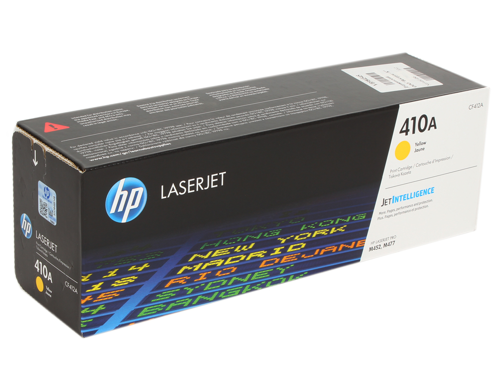Картридж HP CF412A для Color LaserJet Pro M452/MFP M477/M377dw . Жёлтый. 2300 страниц. new paper delivery tray assembly output paper tray rm1 6903 000 for hp laserjet hp 1102 1106 p1102 p1102w p1102s printer