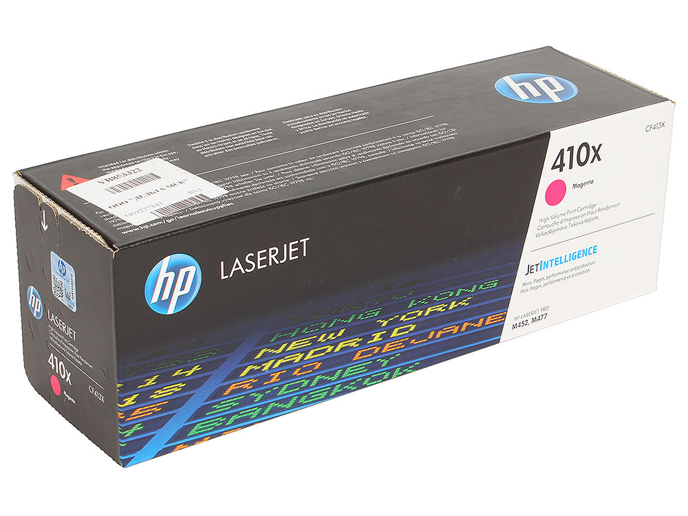 Картридж HP CF413X для Color LaserJet Pro M452/MFP M477/M377dw. Пурпурный. 5000 страниц. new cyan toner compatible for hp laserjet pro cf411x m452 dn dw nw m470 tri color 5000 pages free shipping hot sale