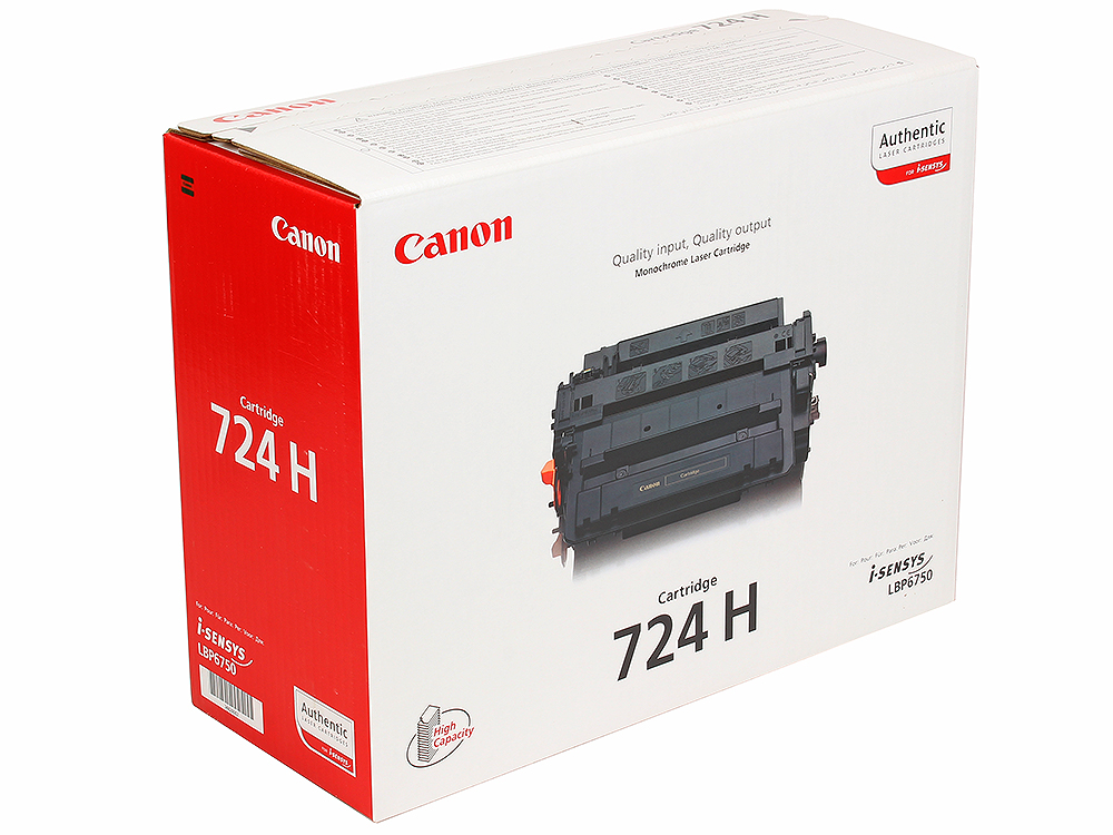 Картридж Canon 724H для LBP 6750/6750N/6750DN. Чёрный. 12500 страниц. картридж canon ep 27 для lbp 3200 чёрный 2500 страниц