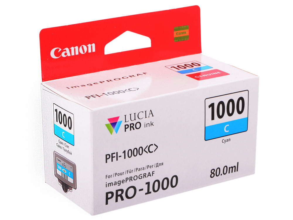 Картридж Canon PFI-1000 C для  IJ SFP PRO-1000 WFG. Голубой. 80 мл. inov 8 кроссовки f lite 235 v2 муж 13 blue orange black