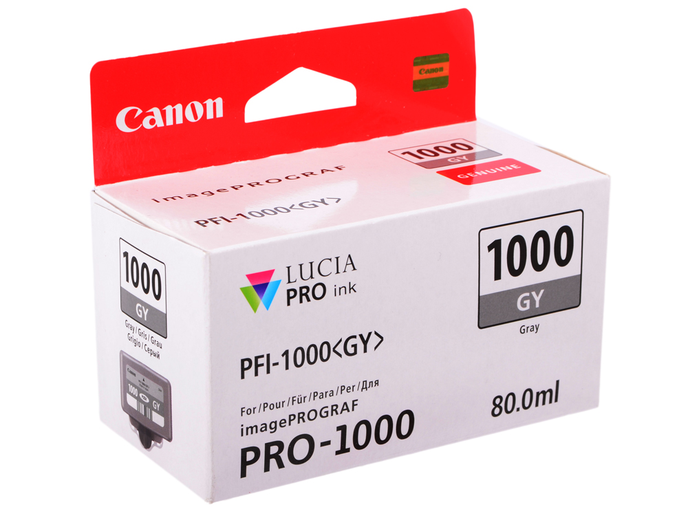 Картридж Canon PFI-1000 GY для IJ SFP PRO-1000 WFG. Серый. 80 мл.