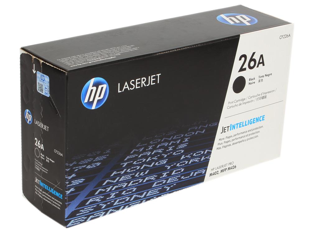 Картридж HP CF226A для HP LaserJet Pro M402/MFP M426 . Чёрный. 3100 страниц. картридж t2 для hp tc h85a laserjet p1102 1102w pro m1132 m1212nf m1214nfh canon i sensys lbp6000 cartrige 725 1600 стр с чипом