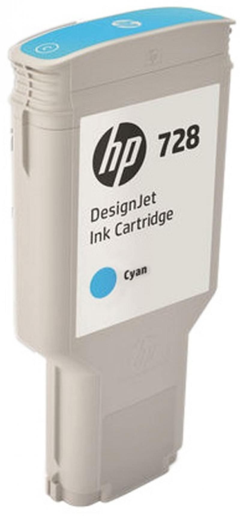 Картридж HP F9K17A (HP 728) для DesignJet T730, T830. Голубой. 300 мл. картридж hp 728 f9j61a yellow 40 мл