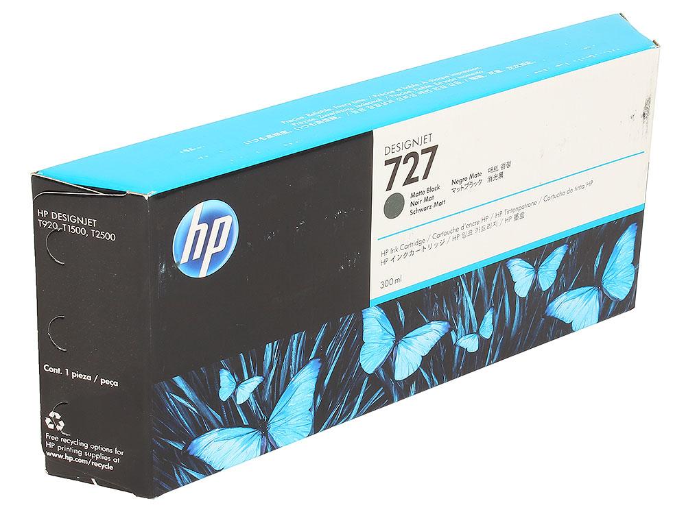 Картридж HP C1Q12A №727 для Designjet T920, T930, T1500, T1530, T2530. Матовый чёрный. 300 млl картридж hp f9j80a 727 для designjet t920 t930 t1500 t1530 t2530 серый 300 млl