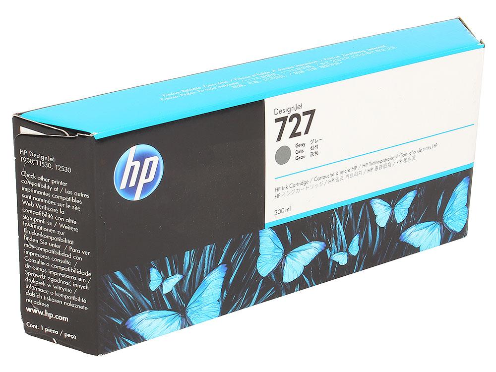 Картридж HP F9J80A №727 для Designjet T920, T930, T1500, T1530, T2530. Серый. 300 млl картридж hp f9j80a 727 для designjet t920 t930 t1500 t1530 t2530 серый 300 млl